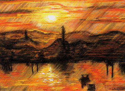 Painting - Hawkes Nest Sunset Australia by Lyndsey Hatchwell