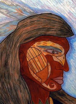 Drawing - Hawkeye by Jason Girard