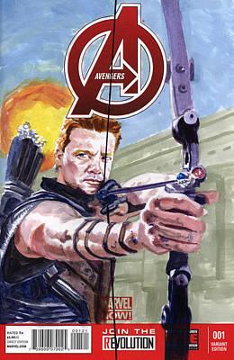 Jeremy Painting - Hawkeye by Ken Meyer jr