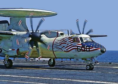 Photograph - Hawkeye Lands On Uss Dwight D. Eisenhower by Herb Paynter