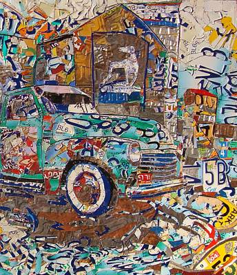 Hawkins Mill Truck Route 66 Springfield Art Print by Phil Jackson