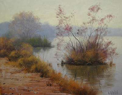Hawksbury River Painting Art Print