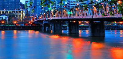 Jerry Sodorff Royalty-Free and Rights-Managed Images - Hawthorne Bridge 22958 2 by Jerry Sodorff