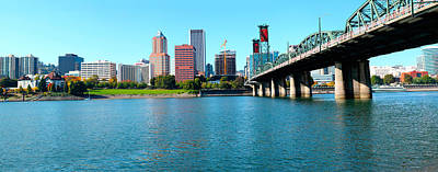Hawthorne Photograph - Hawthorne Bridge Across The Willamette by Panoramic Images