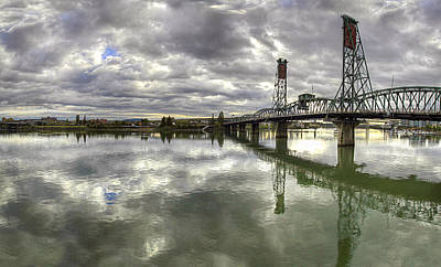 Landscape Photograph - Hawthorne Bridge Over Willamette River by David Gn