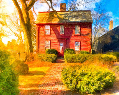Photograph - Hawthorne's Birthplace In Salem by Mark E Tisdale