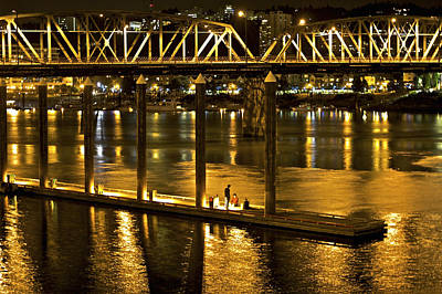 Photograph - Hawthorne Bridge by SC Heffner