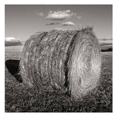 Circular Accents Photograph - Hay Bale Roll by Jeff Leland