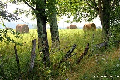 Photograph - Hay Bales by Carolyn Postelwait