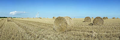 Bale Photograph - Hay Bales In A Field, Veules-les-roses by Panoramic Images