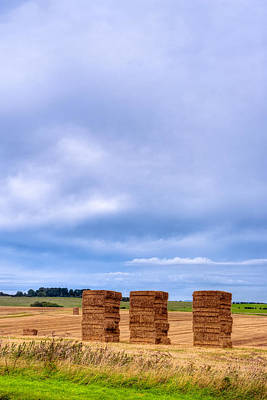 Photograph - Hay Bales In The Fields Of Wiltshire by Mark E Tisdale