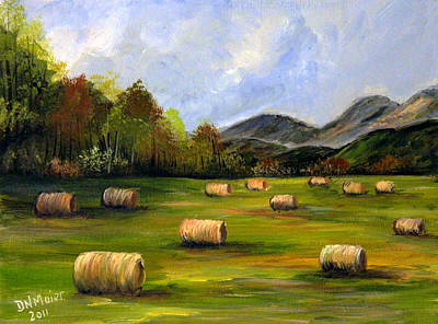 Hay Bales In Wv Art Print