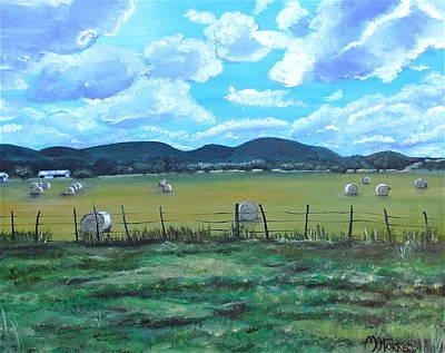 Melissa Torres Painting - Hay Bales by Melissa Torres