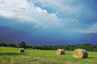 Photograph - Hay Bales - Photography by Ann Powell
