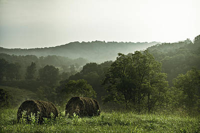 Hay Bales Photograph - Hay Bales by Shane Holsclaw