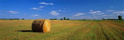 Hay Bales, South Dakota, Usa Print by Panoramic Images