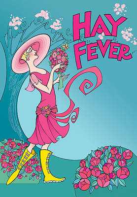Digital Art - Hay Fever by Steven Stines