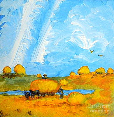 Painting - Hay Fields Northern Utah 1 by Richard W Linford