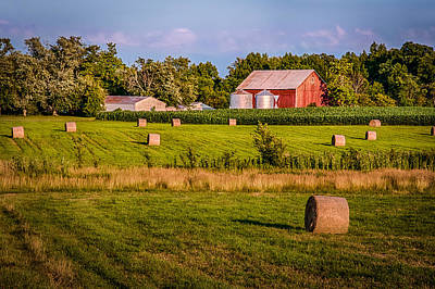 Photograph - Hay Fields On The Farm by Gene Sherrill