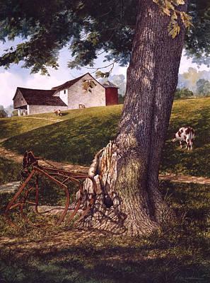 Hay Fork Art Print by Tom Wooldridge