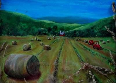 Hay Harvest Art Print by Joan Mace