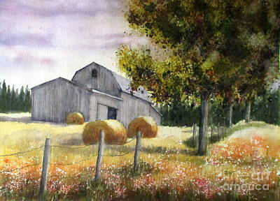Painting - Hay Harvest by Shirley Braithwaite Hunt