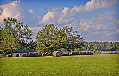 Photograph - Hay Is Baled by Linda Brown
