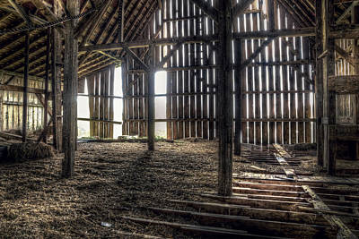 Inside Photograph - Hay Loft 2 by Scott Norris