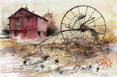 Painting - Hay Rake by Monte Toon