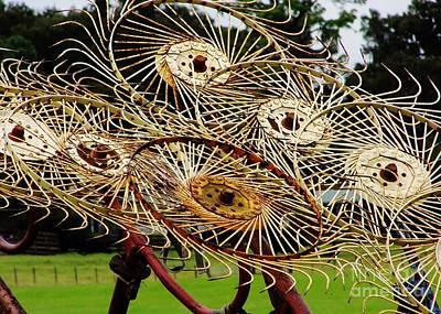 Photograph - Hay Rake Wheels by D Hackett