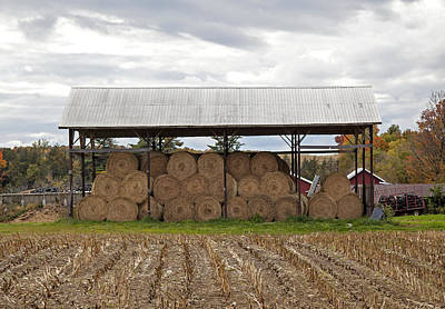 Photograph - Hay Bales In Vermont by Charles Harden