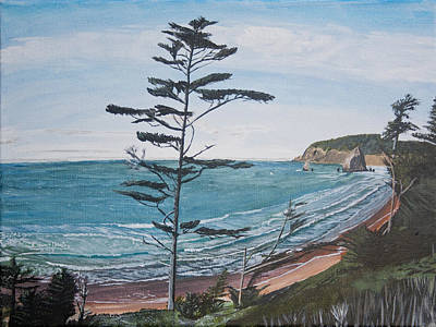 Painting - Hay Stack Rock From The South On The Oregon Coast by Ian Donley