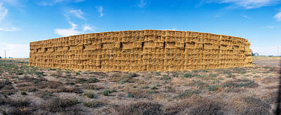 Hay Stacks, Eastern Washington Art Print by Panoramic Images