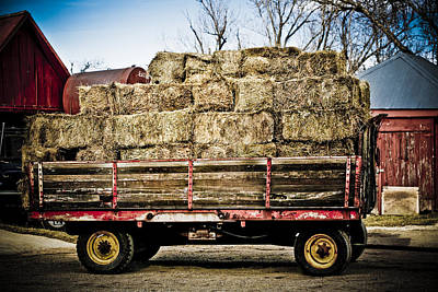 Photograph - Hay Trailer by Marilyn Hunt