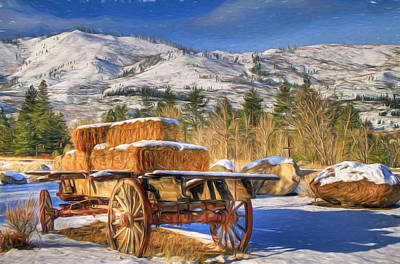 Verdi Photograph - Hay Wagon by Donna Kennedy