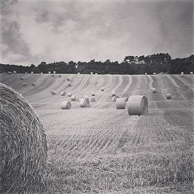 Summer Wall Art - Photograph - #haybales #summer #france by Georgia Fowler