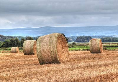 Wheat Chain Photograph - Haybales by Susan Tinsley