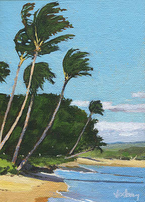 Haleiwa Painting - Haycraft Beach Maalaea by Stacy Vosberg