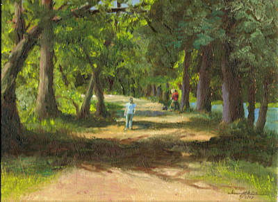 Painting - Hayden Shaded Path by Harriett Masterson