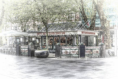 Snack Bar Photograph - Hayes Island Snack Bar Cardiff 2 by Steve Purnell