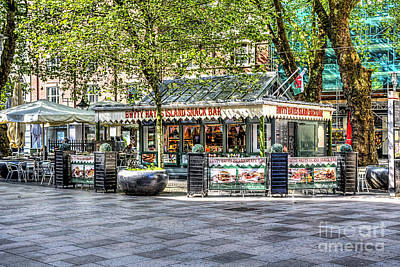 Snack Bar Photograph - Hayes Island Snack Bar Cardiff by Steve Purnell