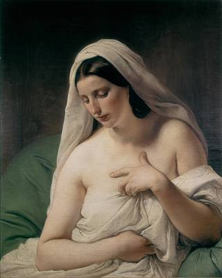 Hayez, Francesco 1791-1882. Odalisque Art Print by Everett