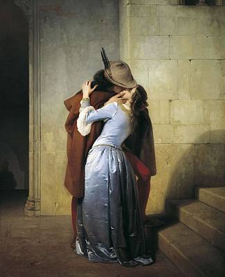 Hayez, Francesco 1791-1882. The Kiss Art Print by Everett
