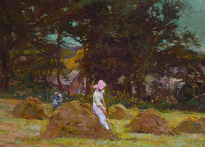 Bale Painting - Haymaking  by Elizabeth Adela Stanhope Forbes