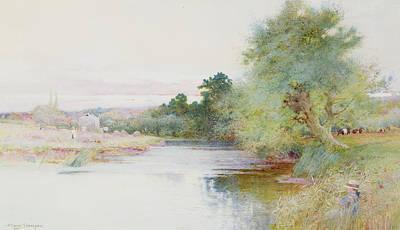Haymaking Near Marlow Art Print by Arthur Claude Strachan