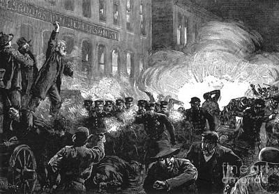 Haymarket Bombing, 1886 Art Print by Photo Researchers
