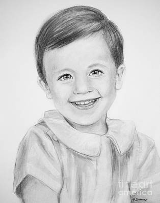 Drawing - Haynes Child Portrait by Kate Sumners