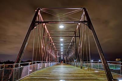 Hays Street Bridge At Night Art Print by Tim Stanley