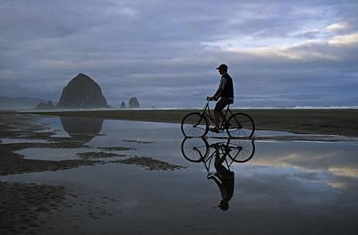 Photograph - Haystack Biker by Doug Davidson