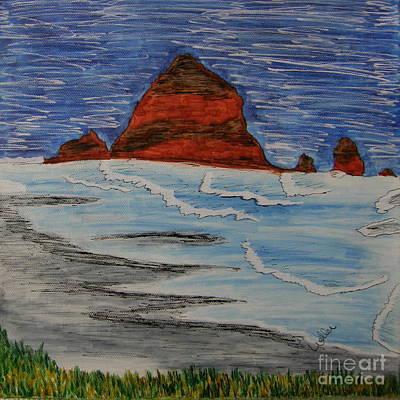 Haystack Art Print by Marcia Weller-Wenbert